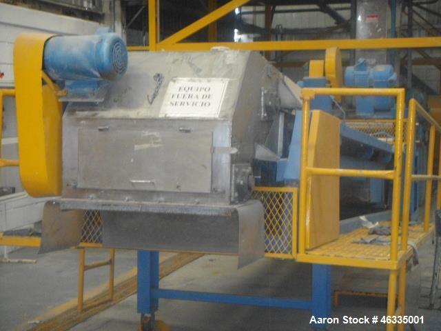 Used- Buss KO-Kneader Single Screw Extruder, Model PR-140. Allowed pressure ATM 6. Allowed temperature 250 degrees C. Last u...
