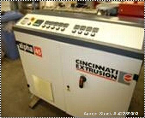 Used-Cincinnati Single Screw Extruder, type Alpha 45-25B-18-100/150-1100 with AC motor, frequency controlled, gear drive to ...