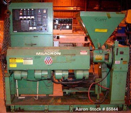 """USED: Cincinnati Milicron 2.5"""" single screw extruder, model Apex, approx 26:1 L/D ratio. Electrically heated, air cooled 4 z..."""