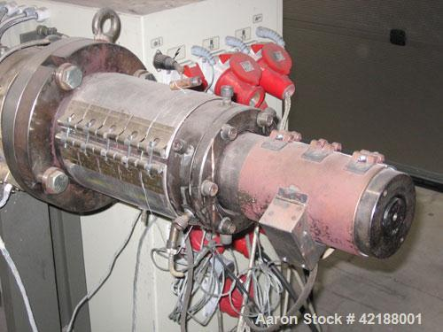 Used-Cincinnati Pipe Single Extruder, type Proton 45-25B.  45 mm diameter screw. 25:1 L/D. Motor 45 hp/30 kW, 380-400 volt/5...