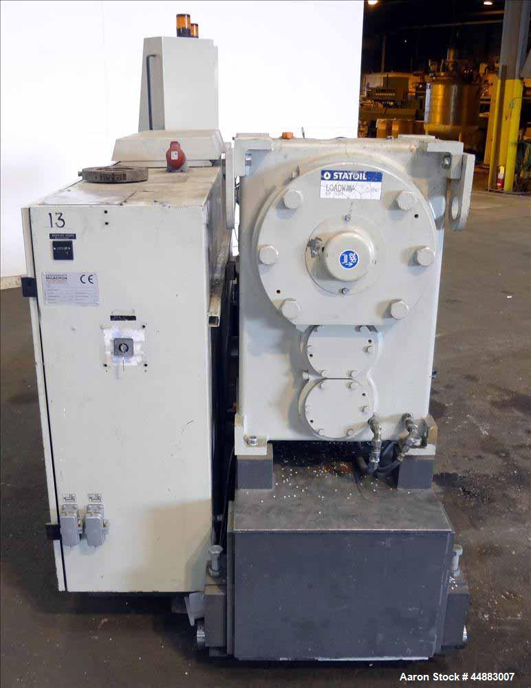 Used- Cincinnati Milacron 75mm Single Screw Extruder, Model Proton 70-30G. Approximate 30 to 1 L/D ratio. Electrically heate...