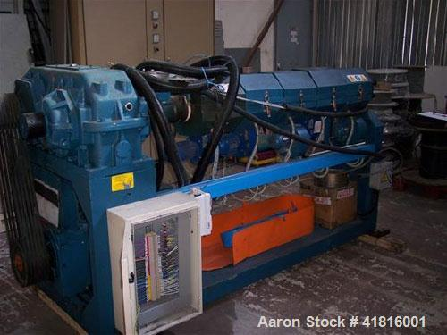 "Used-Corima Single Screw Extruder, 2.5"" (65 mm) screw diameter, L/D 30:1, 73 hp/55 kW motor, (5) heating zones for extruder ..."
