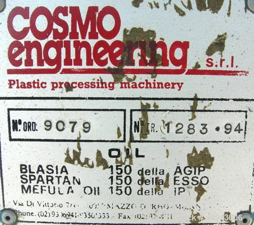"Used- Cosmo 2 1/4"" Single Screw Extruder. Approximate 26:1 L/D ratio. Electrically heated, air cooled 4 zone non-vented barr..."