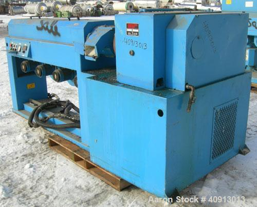 """Used- Cosmo 2 1/2"""" Single Screw Extruder, Approximate 30:1 L/D Ratio. Electrically heated, air cooled 4 zone non-vented barr..."""