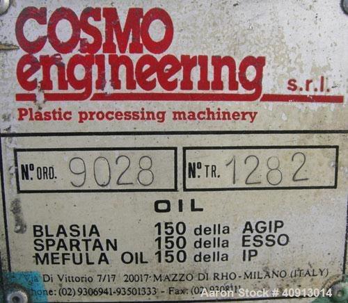 "Used- Cosmo 2"" Single Screw Extruder, Approximate 30:1 L/D Ratio. Electrically heated, air cooled 4 zone non-vented barrel. ..."