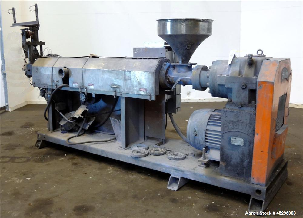 "Used- Crown / CDL Technology 3-1/2"" Single Screw Extruder, Model 5000037"