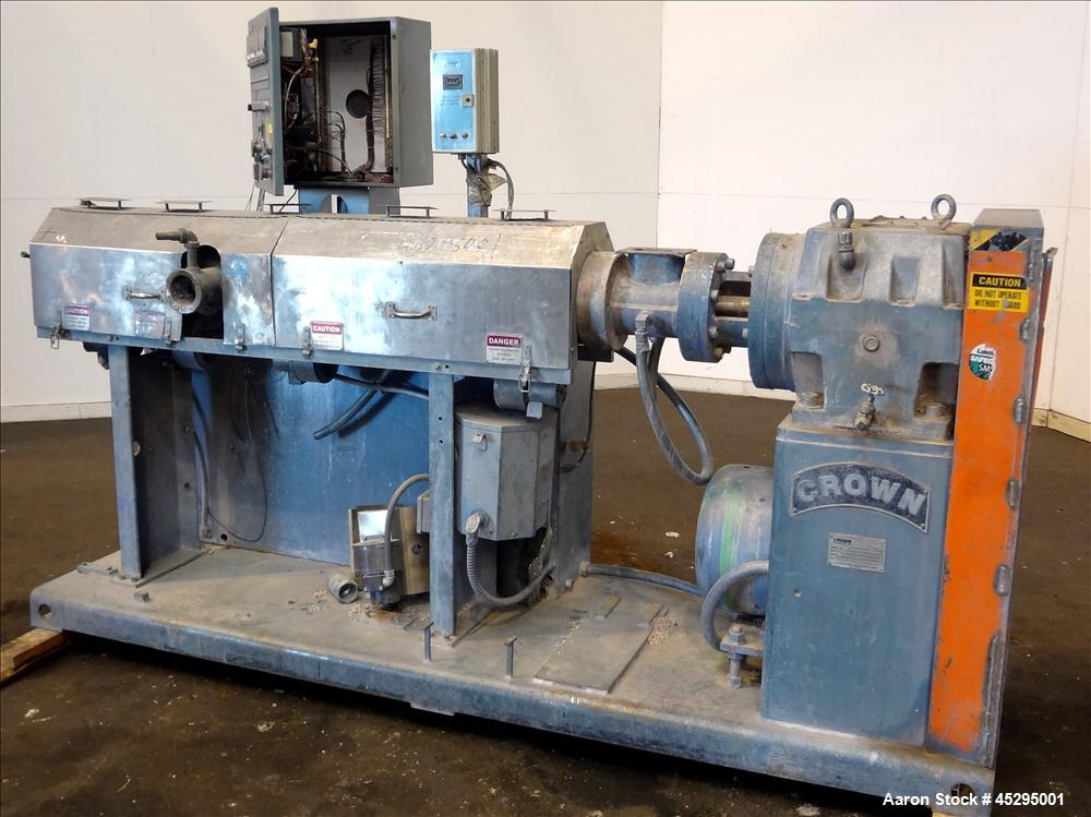 """Used- Crown / CDL Technology 2-1/2"""" Single Screw Extruder, Model 500015"""