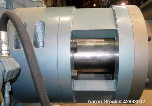 Used- Crown (CDLTechnologies) 8'' Diameter Single Screw Extruder, Model CTS16-8. (1) Tapered screw starting at approximate 1...