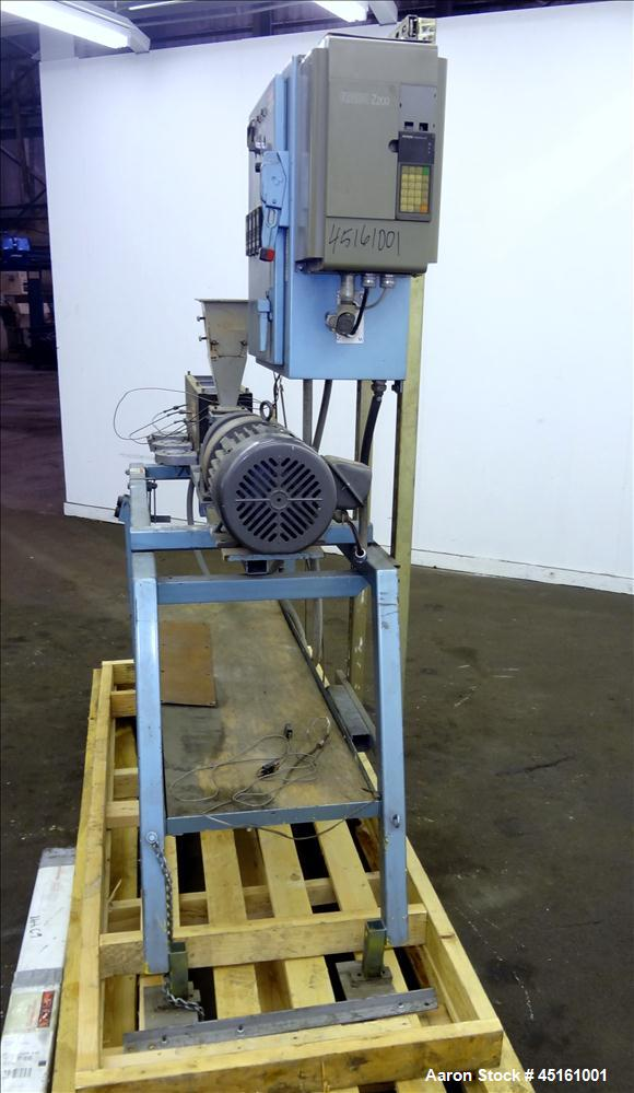 """Used- Crown / CDL Technology 1"""" Single Screw Extruder. Approximate 30 to 1 L/D ratio. Electrically heated air cooled 3 zone ..."""