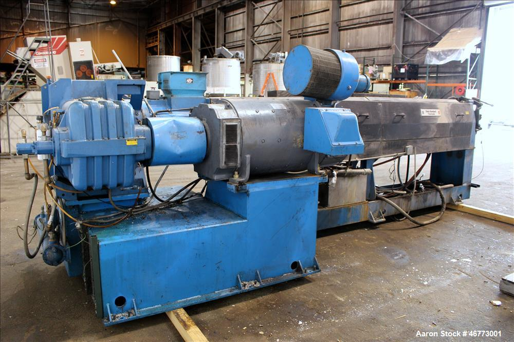 Used- Davis-Standard 165mm Single Screw Extruder, Model 165MM-60TPIH. Approximate 30 to 1 L/D ratio, 6 zones electrically he...