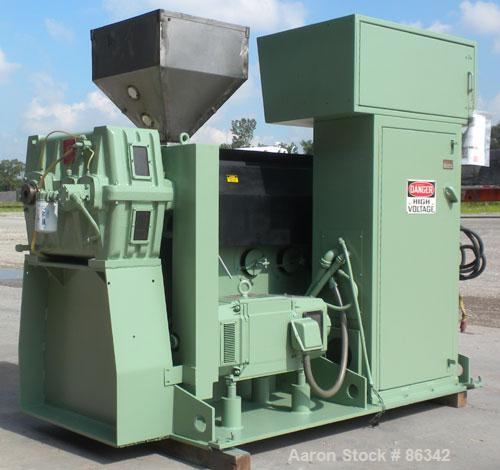 """Used- Davis Standard 2.5"""" Single Screw Extruder, Model 250S, Approximate 24:1 L/D ratio. Electrically heated, air cooled 5 z..."""