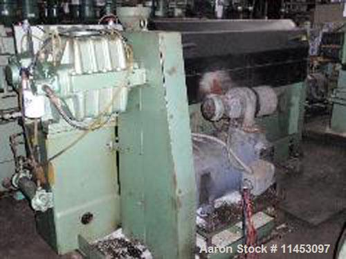 "Used-Davis Standard Thermatic Extruder, model 25IN25. 2.5"" diameter screw, 30:1 L/D, 6 heating zones, 50 hp motor, 17.2:1 ge..."