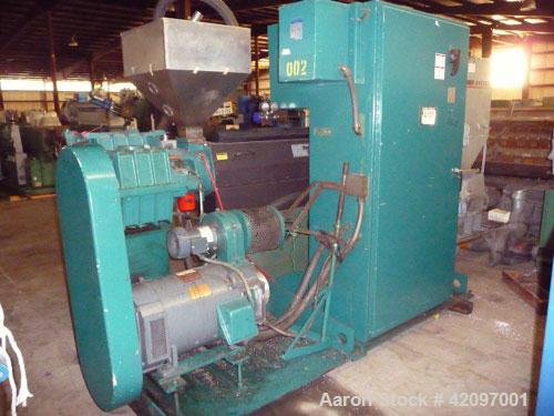 Used- Davis Standard 2-1/2'' Thermatic Single Screw Extruder, Model 25IN25. 30 to 1 L/D ratio. Electrically heated, air cool...