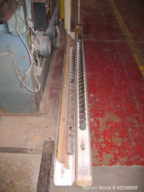 "Used- Davis Standard 2-1/2"" Thermatic Single Screw Extruder, model 25IN25, 24 to 1 L/D ratio. Electrically heated, air coole..."
