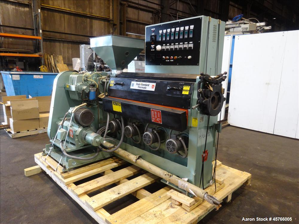 "Used- Davis Standard 2-1/2"" Single Screw Thermatic Extruder"