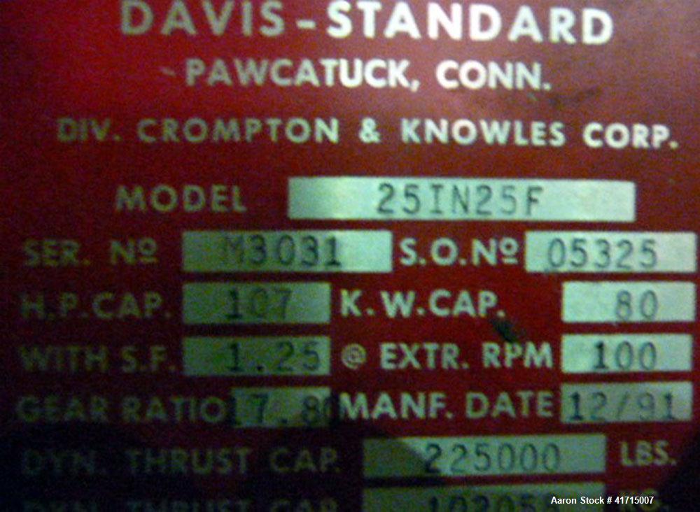 Used- Davis Standard, Model 25IN25F