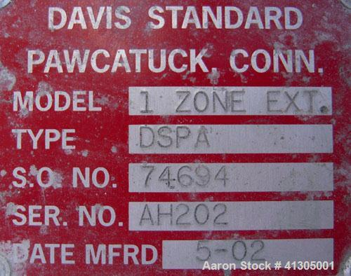 "Used- Davis Standard 2 1/2"" Single Screw Extruder, Model 25MK5, Type DSPA. 24 to 1 L/D Ratio. Electrically heated, air coole..."