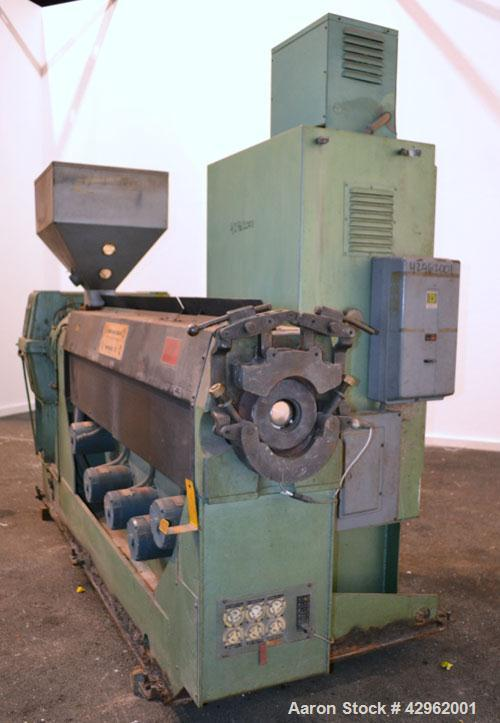 "Used- Davis Standard 3-1/2"" Single Screw Extruder, Model 350S, Approximately 24 to 1 L/D Ratio. Electrically heated, air coo..."