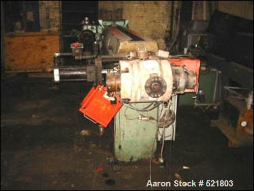 "USED: 3.5"" Davis Standard extruder, model 35IU35-30DSPW. 30:1 L/D, electrically heated, water cooled, jacketed feed section,..."