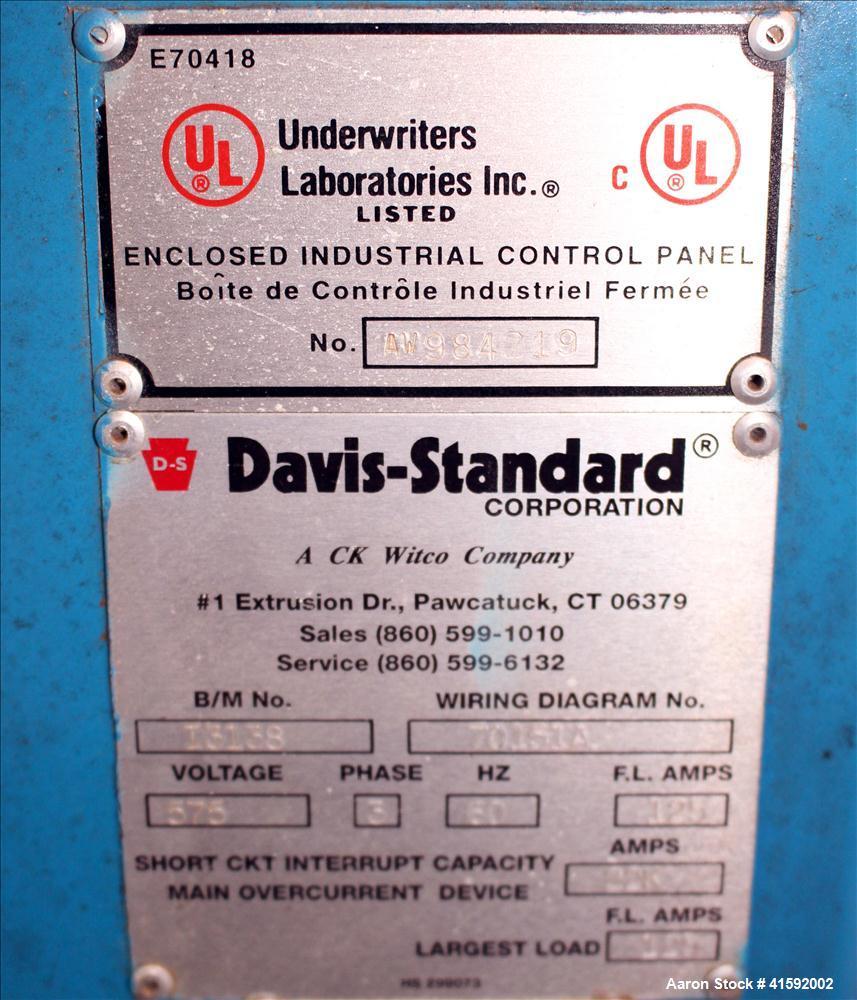 Used- Davis Standard 3-1/2' Single Screw Extruder, Model 3.5MV-350