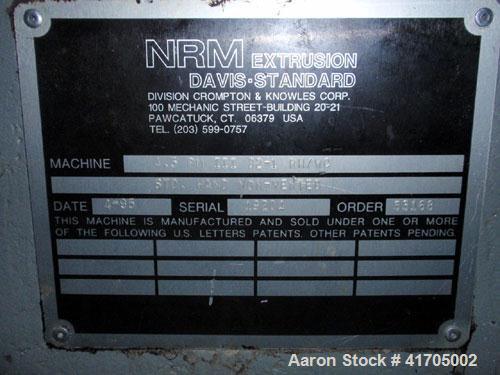Used- Davis Standard / NRM Profile Extrusion Line consisting of: (1) used Davis Standard / NRM profileextrusion line consist...