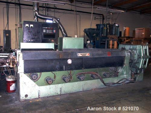 """USED: 4.5"""" Davis Standard extruder, model 450H. 34:1, vented, 200 hp GE, """"H"""" style box.   One glass screw and one general pu..."""