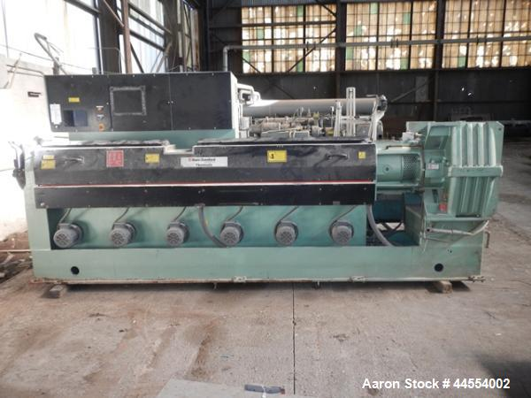 """Used- Davis Standard 4.5"""" single screw extruder, model 45IN45HT, 30:1 L/D, electrically heated, air cooled barrel, jacketed ..."""