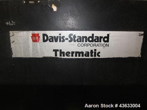 """Used- Davis Standard 6"""" Single Screw Extruder, Model 60IN60TPIH. Approximately 24 to 1 L/D ratio. Electrically heated, water..."""