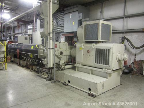 """Used- Davis Standard 6"""" Single Screw Extruder, Model 60IN80R, 38:1 L/D. Electrically heated, water cooled, jacketed feed sec..."""