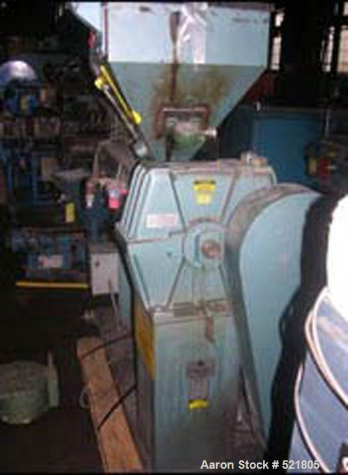 """USED: 2"""" Davis Standard extruder, model DS-20. 24:1 L/D, electrically heated, air cooled, jacketed feed with hopper, with 20..."""