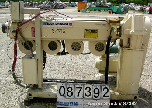 """USED: Davis Standard 2"""" screw diameter single screw extruder, model DS-20. 30:1 L/D ratio. Electrically heated, air cooled, ..."""