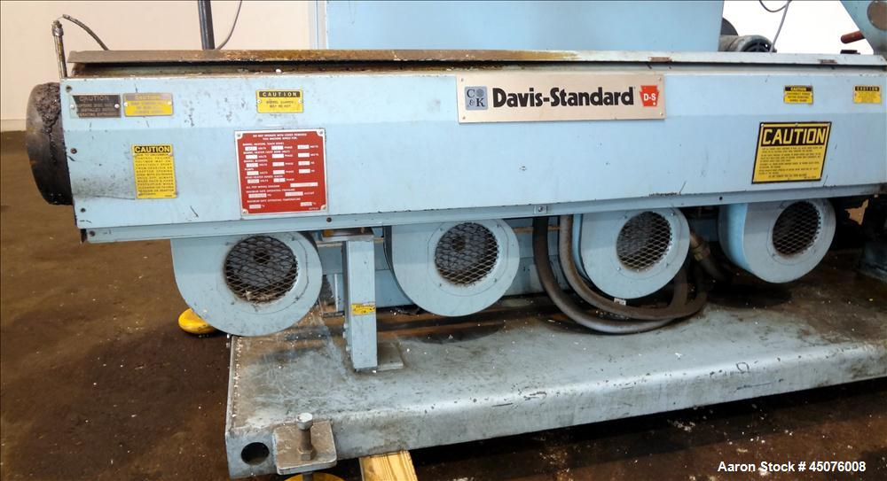 "Used- Davis Standard 3"" Single Screw Extruder, Model DS-30. Approximate 24 to 1 L/D Ratio. Electrically heated, air cooled 4..."