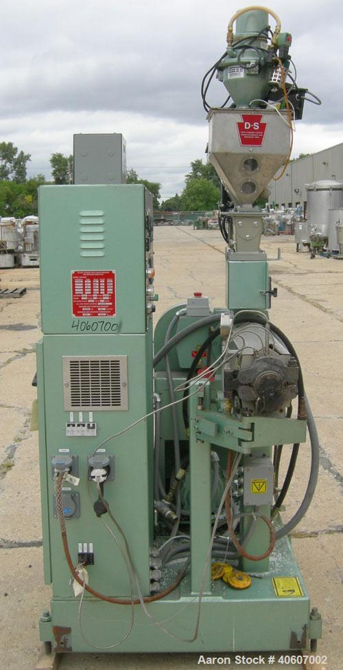 """Used- Davis Standard 1.25"""" DiameterSingle Screw Extruder, Model DS12H. Approximate 24 to 1 L/Dratio, electrically heated, ..."""
