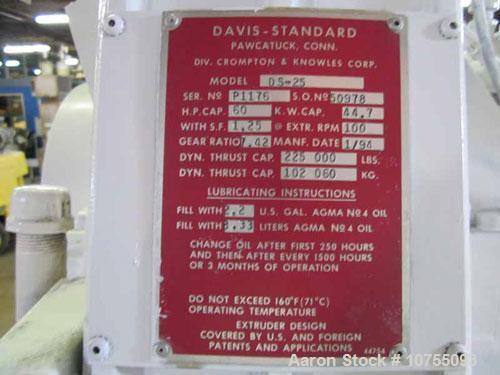 """Used-Davis Standard Model DS25 2.5"""" Extruder"""