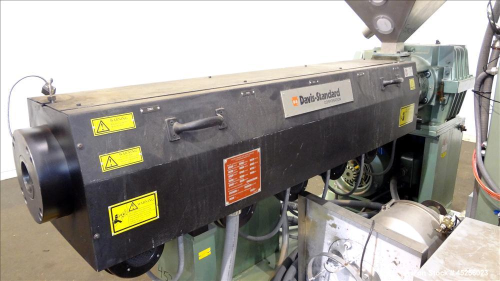 "Used- Davis Standard 2"" Single Screw Extruder, Model KND250. Approximate 30 to 1 L/D ratio. Electrically heated, air cooled ..."