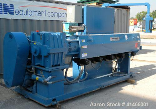 """Used- Davis Standard 3-1/2"""" Single Screw Extruder, Model Mark V. 30 to 1 L/D Ratio. Electrically heated, air cooled 5 zone n..."""