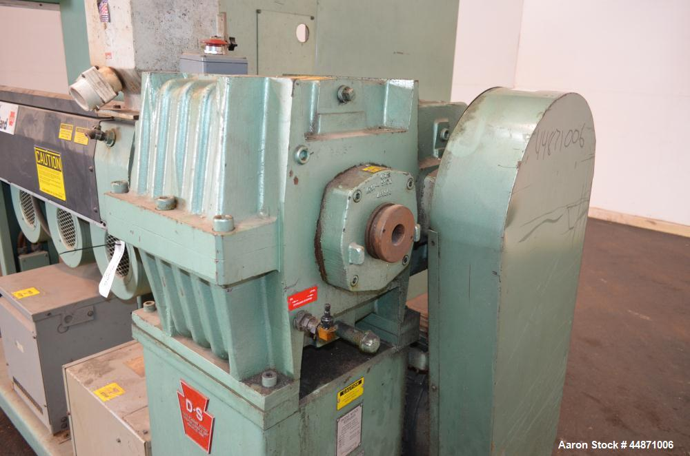 "Used- Davis Standard 2-1/2"" Single Screw Extruder.  Approximately 24 to 1 L/D ratio. Electrically heated, air cooled 4 zone ..."