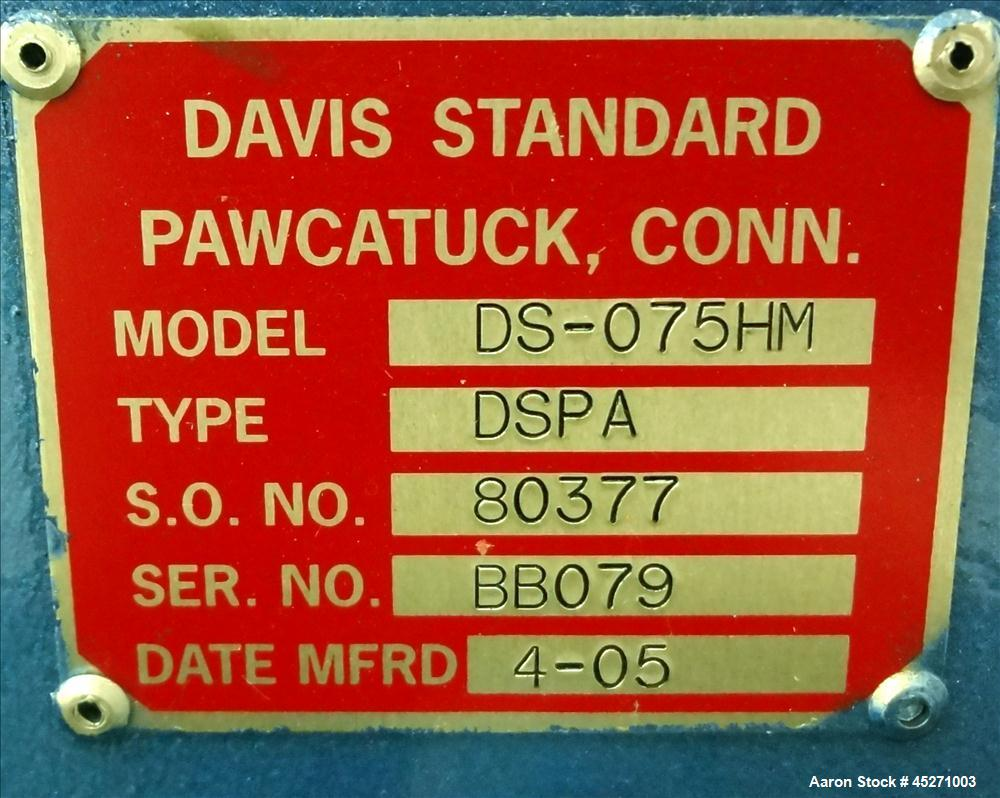 "Used-Davis Standard 3/4"" Single Screw Extruder"