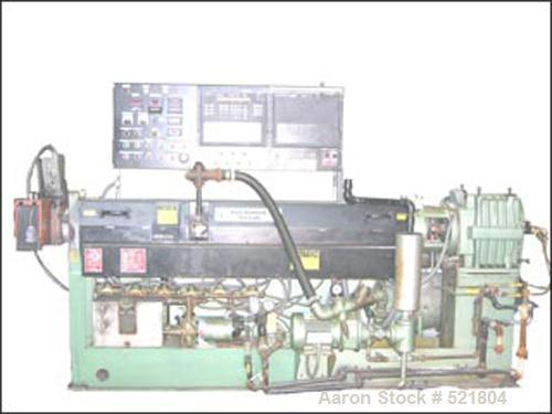 USED: 75 mm Davis Standard extruder, electrically heated, water cooled, 30:1 L/D, vented barrel, 17.26:1 gearbox ratio, 100 ...