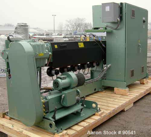 """USED: Davis Standard Extruder, model 75MM25, type DSPA. 75 mm screw diameter, approximate 44:1 L/D ratio. 152 1/2"""" from back..."""