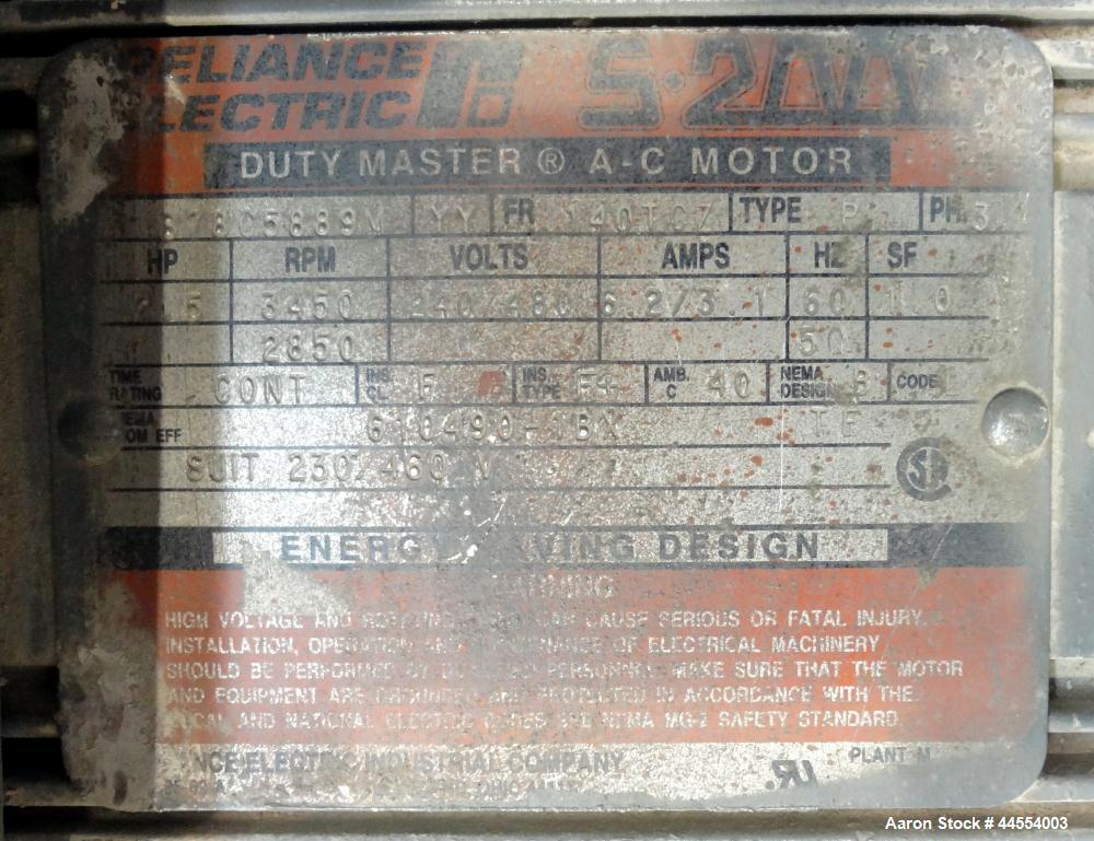 "Used- Deltaplast 4-1/2"" Single Screw Extruder, Model D12-45O32"