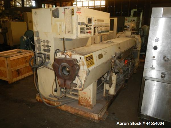 "Used- Deltaplast 4.5"" single screw extruder, model D12045O32"