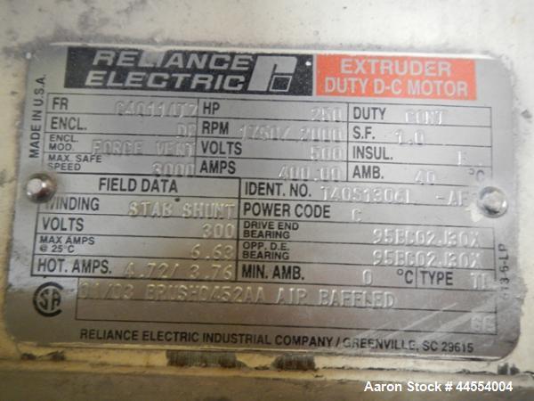 "Used- Deltaplast 4.5"" single screw extruder, model D12045O32"