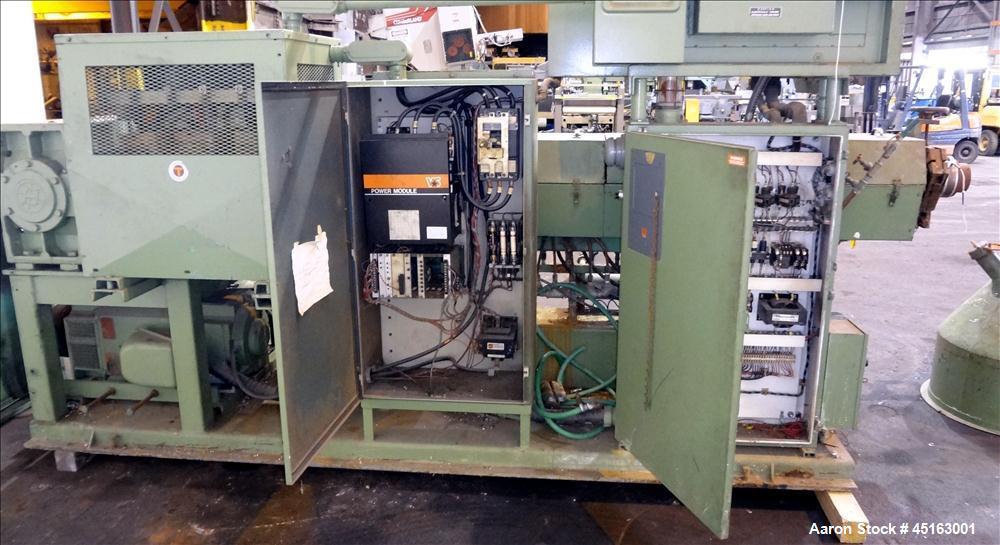 "Used- DeltaPlast 3-1/2"" Single Screw Extruder, Model D90:350:30."