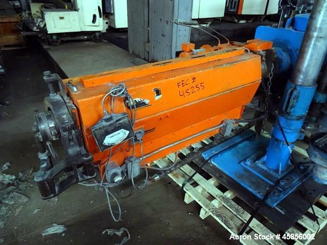"Used- Deltaplast 2"" Single Screw Cold Feed Extruder. Approximately 24 to 1 L/D ratio, electrically heated, air cooled barrel..."