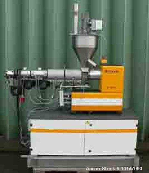 "Used-Dr. Collin GmbH Lab Size Single Screw Extruder, Type 30x25D.  1.17"" (30 mm) diameter.  25:1 L/D + 5D, (3) heating zones..."