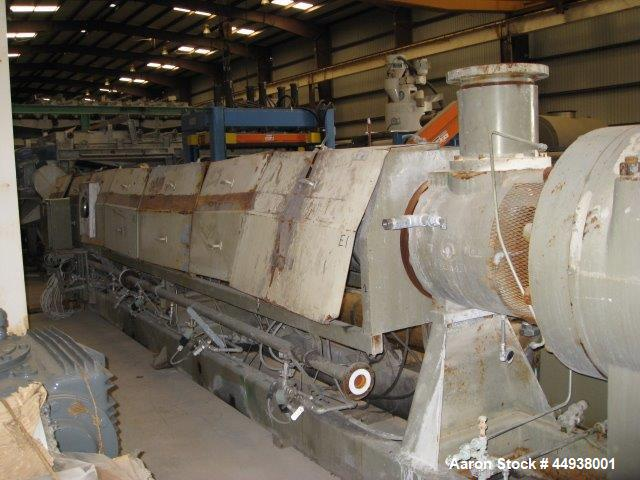 """Used- Egan 8"""" Diameter Single Screw Extruder, Model 36T01.  Approximately 36 to 1 L/D ratio.  Electrically heated, water coo..."""