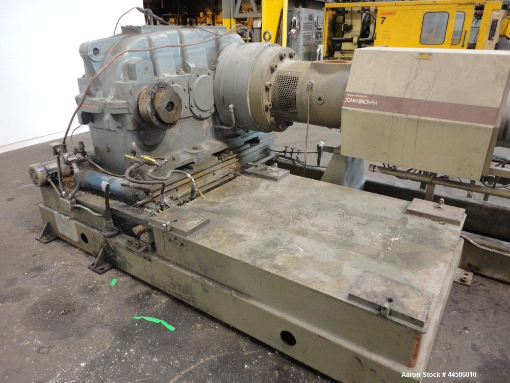 "Used- Egan Machinery 8"" Single Screw Extruder, Model B0-08038-01. Approximately 24 to 1 L/D ratio. Electrically heated, wate..."