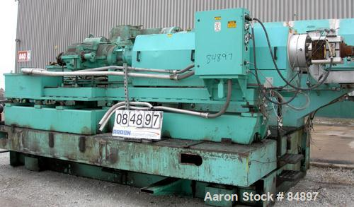 "Used- Egan 3-1/2"" Single Screw Extruder, Model H3518HD. Approximate 26:1 L/D ratio, electrically heated, water cooled 6 zone..."