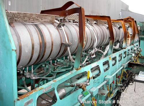 """Used- Egan 6"""" Single Screw Extruder, Model H6026D. Approximate 26:1 L/D ratio. Electrically heated, water cooled 8 zone non-..."""